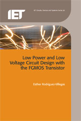 image of Low Power and Low Voltage Circuit Design with the FGMOS Transistor