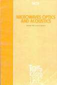image of IEE Journal on Microwaves, Optics and Acoustics