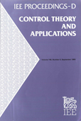 image of IEE Proceedings D (Control Theory and Applications)