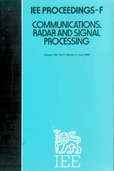 image of IEE Proceedings F (Communications, Radar and Signal Processing)
