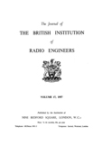 image of Journal of the British Institution of Radio Engineers