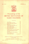 image of Proceedings of the British Institution of Radio Engineers