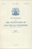 image of Proceedings of the IEE - Part C: Monographs