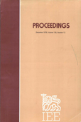 image of Proceedings of the Institution of Electrical Engineers